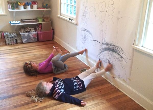 Pintar com os pés!